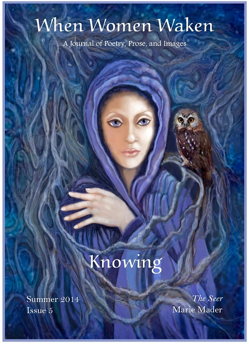 Unwavering Blue Scarf by Victoria M. Johnson