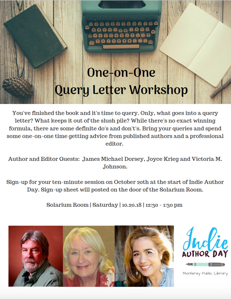 Author Victoria M. Johnson Query Letter Workshop