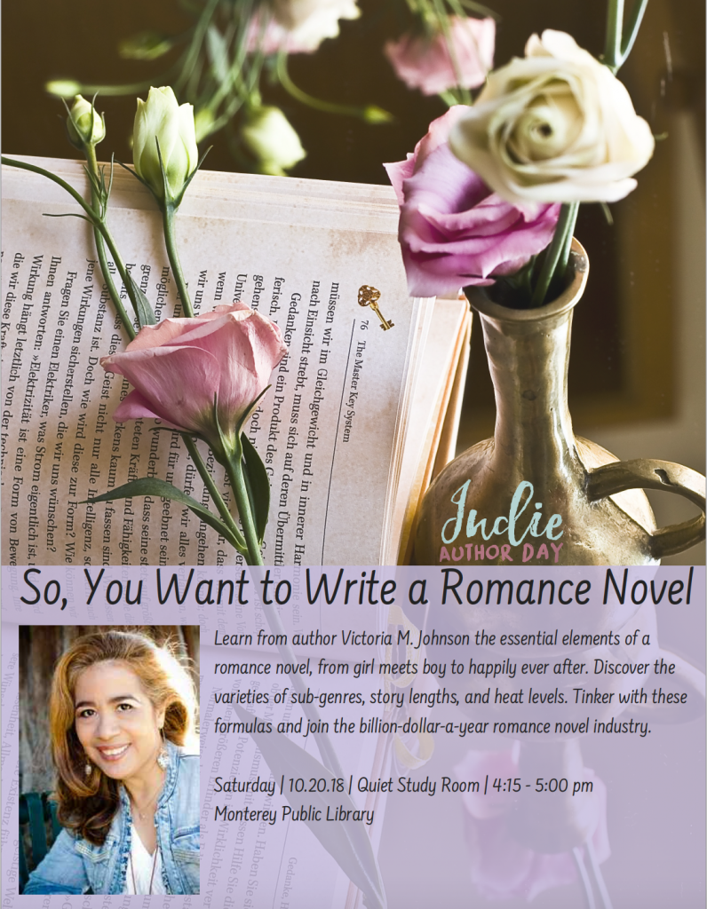 Write a Romance with author Victoria M. Johnson