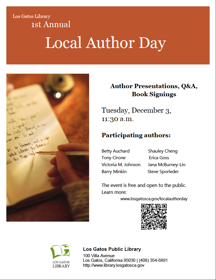 Local Author Day at Los Gatos Library